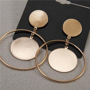 Pair of Hollow Out Round Earrings -
