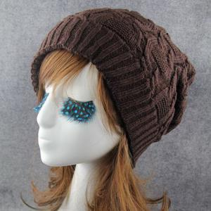 Chic Solid Color Winter Knitted Beanie For Women -