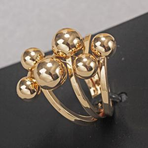 Chic Solid Color Beads Layered Ring For Women -