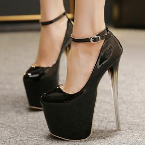 Party Stiletto Heel and Ankle Strap Design Women's Pumps -