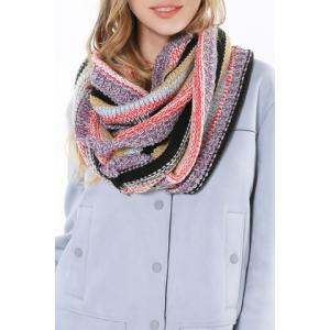 Chic Multifunctional Colorful Loop Knitted Scarf For Women -
