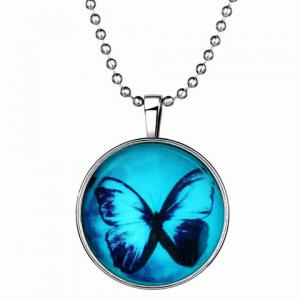 Luminous Butterfly Round Necklace -