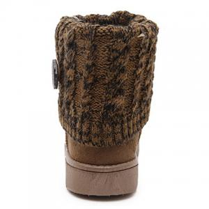 Stylish Plush and Button Design Women's Snow Boots -