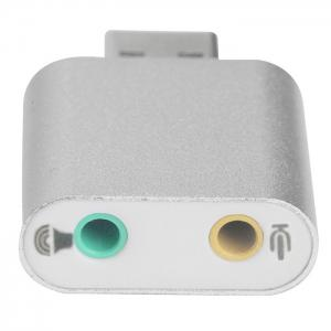 CZH-H077 3D Stereo 7.1 Channel USB Audio Adapter External Sound Card for Skype Headsets -