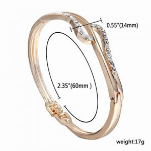 Alloy Hollow Out Rhinestone Gold Plated Bracelet - GOLDEN