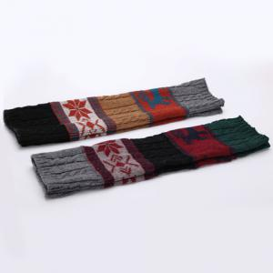 Pair of Chic Snowflake and Deer Pattern Christmas Knitted Leg Warmers For Women -