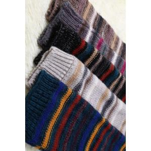 Pair of Chic Multicolor Stripe Pattern Knitted Leg Warmers For Women -