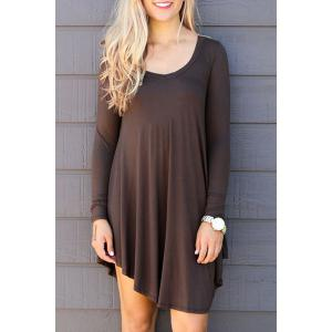 Fresh Style V-Neck Long Sleeve Dress