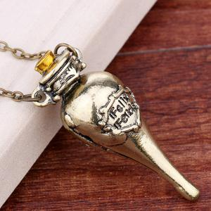 Harry Potter Felixfelicis Costume Pendant Necklace - COPPER COLOR