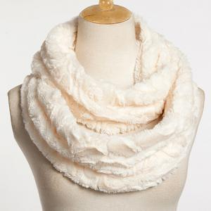 Chic Solid Color Faux Fur Downy Neck Warmer For Women -