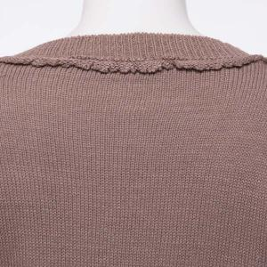 V Neck Pullover Tunic Sweater - DARK KHAKI S