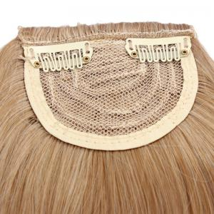 Fashion Fluffy Heat Resistant Fiber Straight Brown Capless Full Bang With Sideburns For Women - BLONDE
