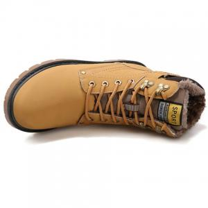 Lace Up Color Block Short Boots - YELLOW 44