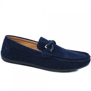 Stylish Criss-Cross and Suede Design Men's Casual Shoes