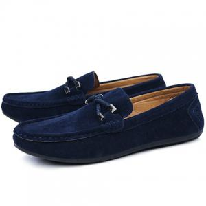 Stylish Criss-Cross and Suede Design Men's Casual Shoes -