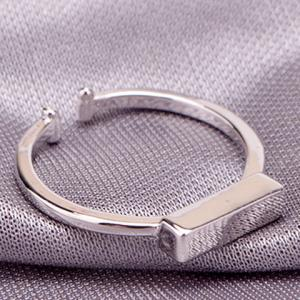 Trendy Solid Color Cuboid Shape Cuff Ring For Women -