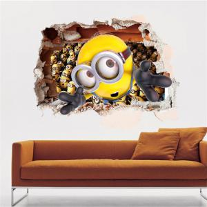 3D Bee-do Style Removable Wall Stickers Colorful Room Window Decoration for Bedroom - AS THE PICTURE