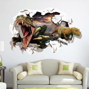 3D Dinosaur Removable Wall Stickers Animals Room Window Decoration - As The Picture - Size 1