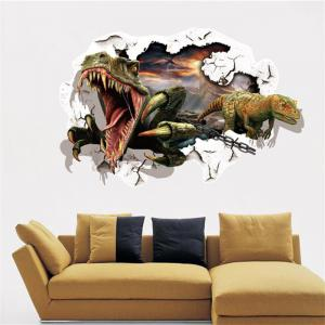 3D Dinosaur Removable Wall Stickers Animals Room Window Decoration - AS THE PICTURE SIZE 1