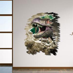 3D Dinosaur Style Removable Wall Stickers Colorful Room Window Decoration for Bedroom Store -
