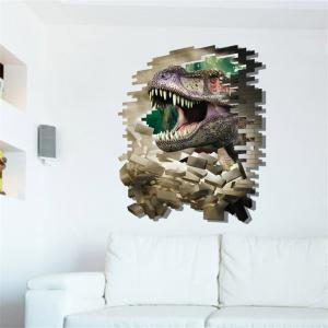 3D Dinosaur Style Removable Wall Stickers Colorful Room Window Decoration for Bedroom Store - AS THE PICTURE SIZE 4
