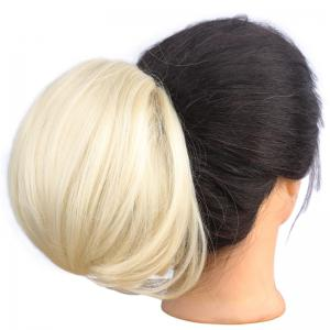 Charming Heat Resistant Fiber Fashion Shaggy Straight Capless Chignons For Women -