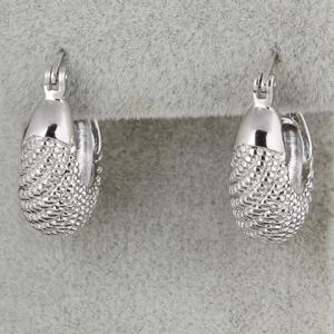 Pair of Fish Shape Alloy Earrings - SILVER