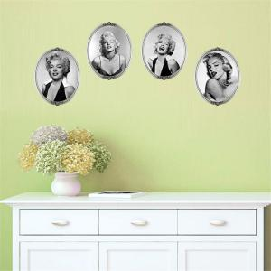Creative Marilyn Monroe Style Removable Wall Stickers Fashion Room Window Decoration - AS THE PICTURE