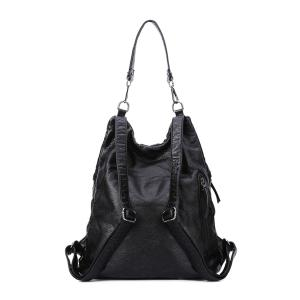 Casual Black and Embossing Design Women's Shoulder Bag -