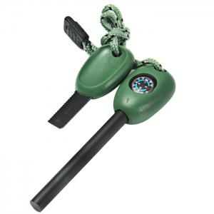 3D 4 in 1 Multi-function Fire Starter for Outdoor Survival - GREEN