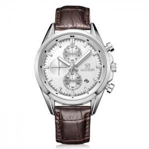 MEGIR 5005 Japan Quartz Watch Genuine Leather Band for Men -