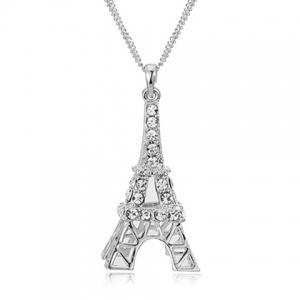 Romantic Rhinestoned Eiffel Tower Sweater Chain For Women