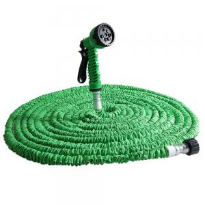 125FT Expandable Garden Hose with 7 in 1 Spray Gun - Green