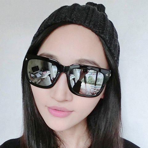 Outfits Chic Rivet Embellished Quadrate Sunglasses For Women
