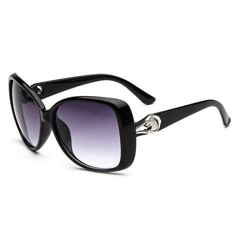 Hot Chic Leopard Head Shape and Hollow Out Embellished Sunglasses For Women