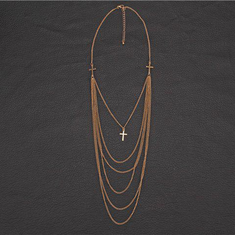 Shop Delicate Cross Layered Necklace For Women