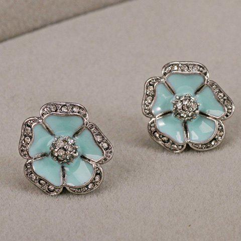 Outfit Rhinestone Embellished Flower Earrings