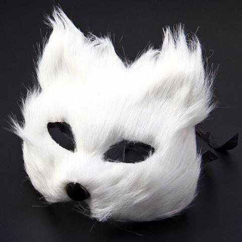Outfit Fox Design Half Mask for Christmas Decoration Halloween Masquerades Theme Party - WHITE  Mobile