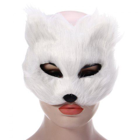 Shop Fox Design Half Mask for Christmas Decoration Halloween Masquerades Theme Party - WHITE  Mobile
