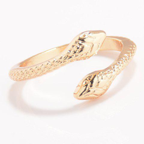Outfits Punk Snake Cuff Ring - ONE-SIZE GOLDEN Mobile