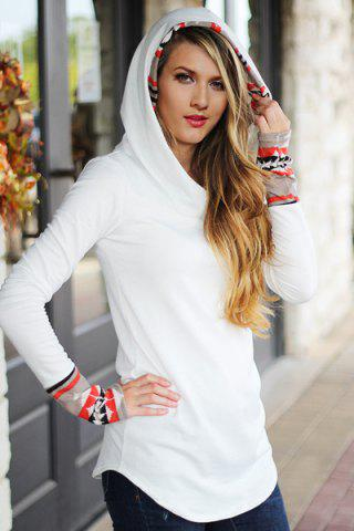 Chic Hooded Long Sleeve Printed Women's Hoodie