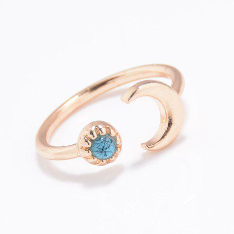 Cheap Alloy Moon Cuff Ring GOLDEN ONE-SIZE