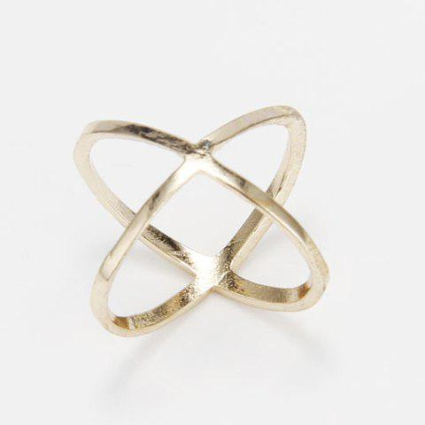 Unique Simple Solid Color X-Shaped Finger Joint Ring For Women