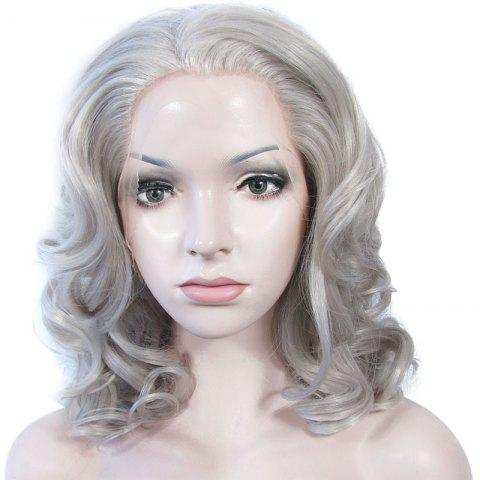 Online Attractive Long Heat Resistant Synthetic Stylish Fluffy Wavy Lace Front Wig For Women