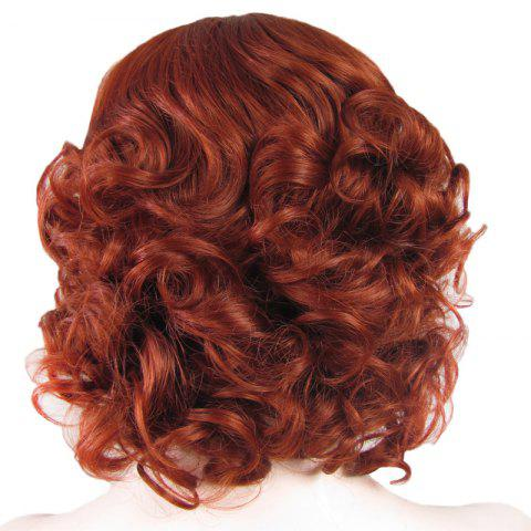 Shop Stunning Short Brown Side Bang Synthetic Vogue Shaggy Curly Lace Front Wig For Women - BROWN  Mobile