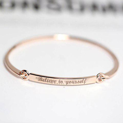 Trendy Engraved Polished Bracelet