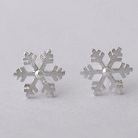 Unique Snowflake Stud Earrings - SILVER  Mobile