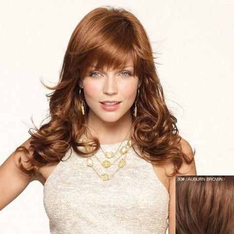 Online Attractive Long Full Bang Fashion Shaggy Wavy Capless Real Human Hair Wig For Women