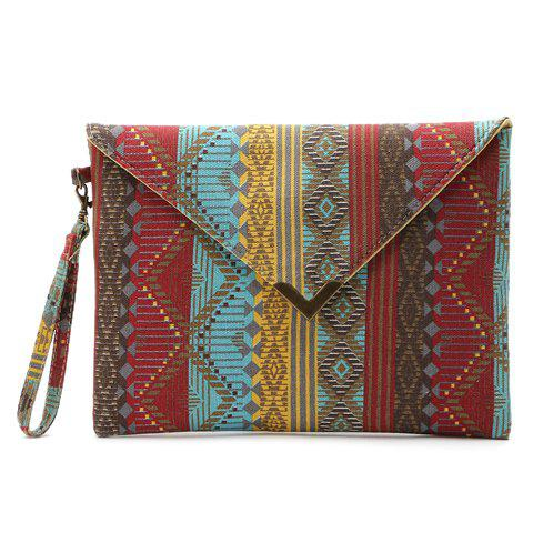 Unique National Style Metal and Color Matching Design Women's Clutch Bag