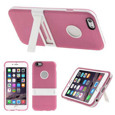 Best ENKAY 2 in 1 Protective Back Case Tempered Glass Screen Protector for iPhone 6 / 6S with Stand 0.26mm Ultrathin 9H 2.5D Film - PINK  Mobile